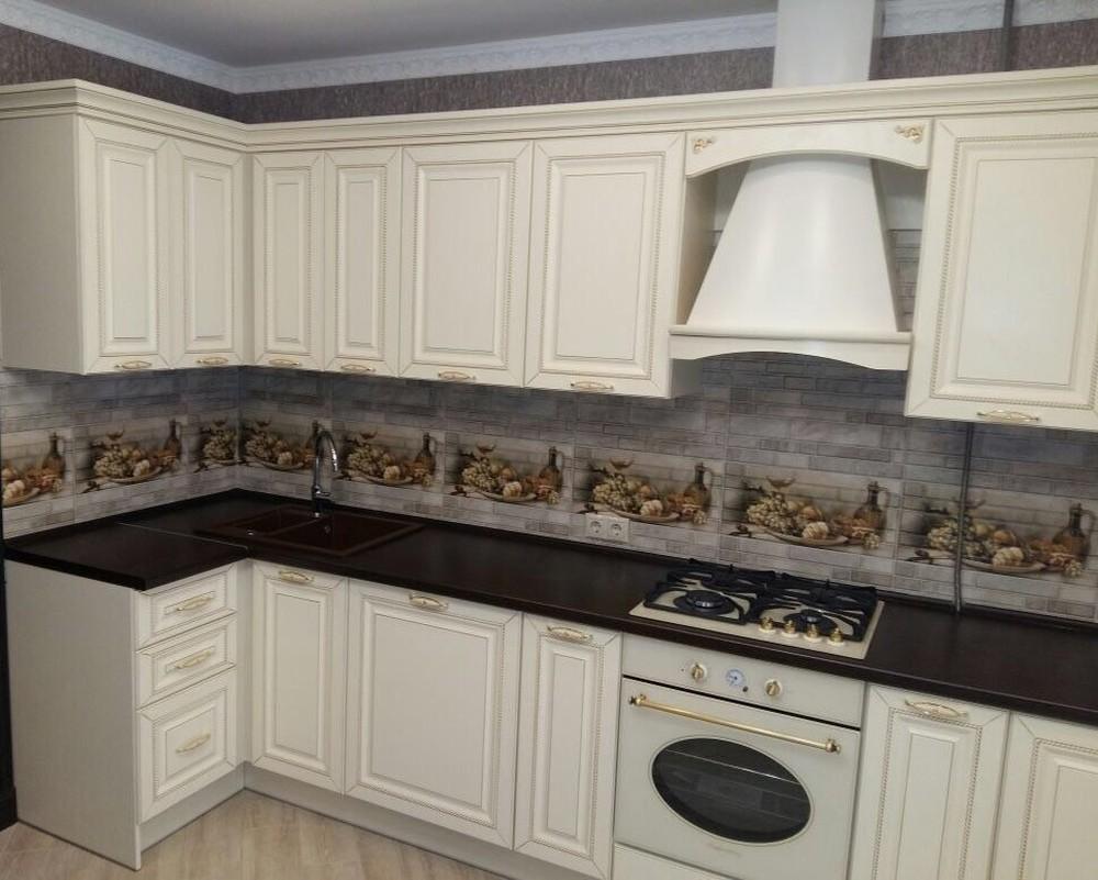 Бежевые кухни-Кухня МДФ в ПВХ «Модель 146»-фото2
