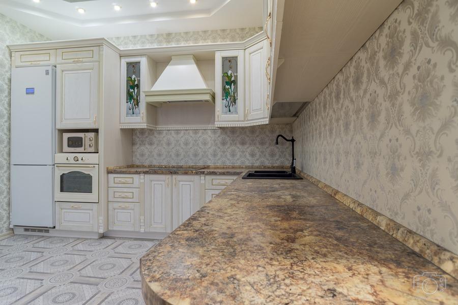 Белый кухонный гарнитур-Кухня из шпона «Модель 8»-фото5