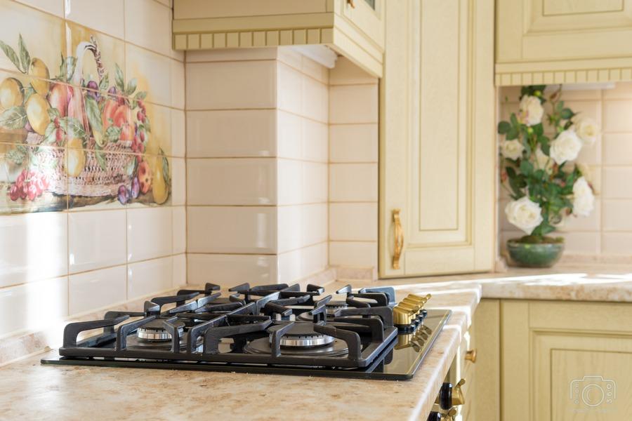 Белый кухонный гарнитур-Кухня из шпона «Модель 3»-фото10