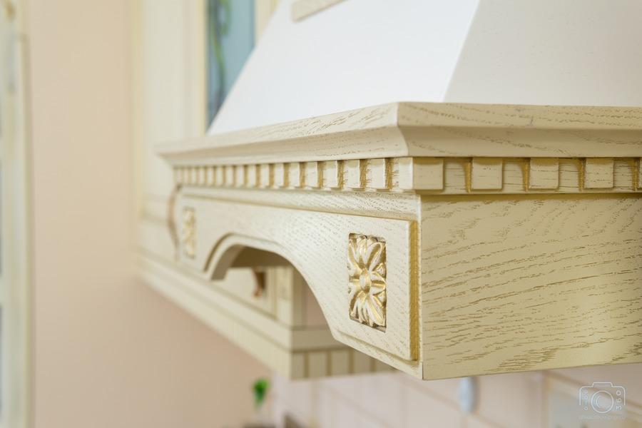 Белый кухонный гарнитур-Кухня из шпона «Модель 3»-фото12