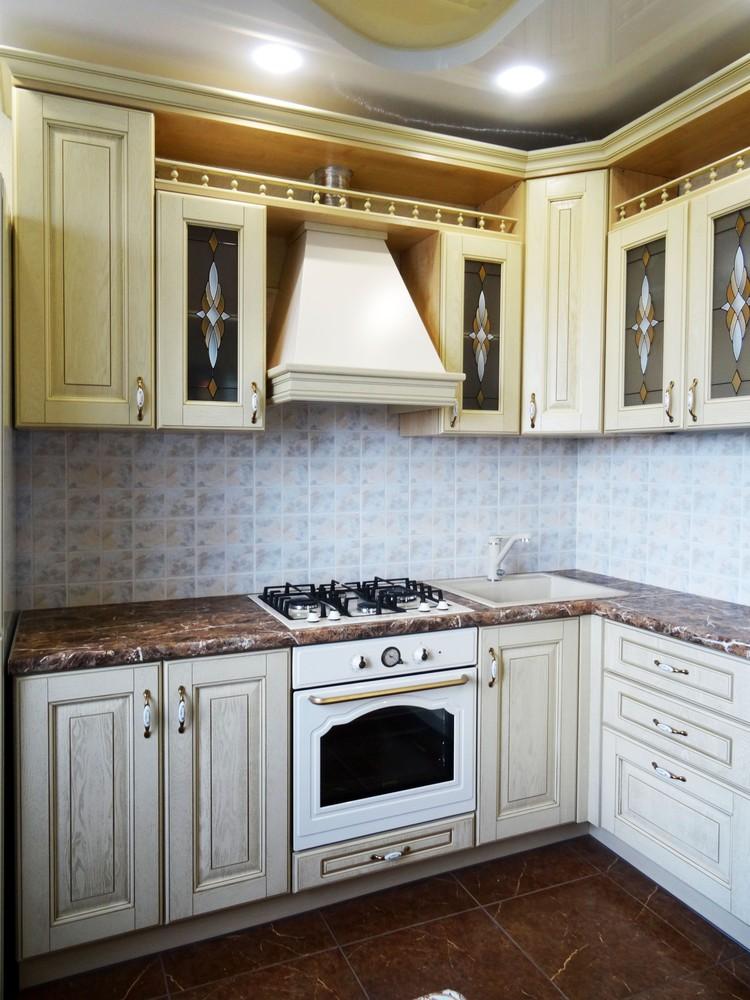 Белый кухонный гарнитур-Кухня из массива «Модель 21»-фото3
