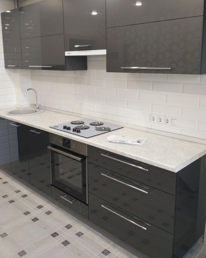 Акриловые кухни-Кухня из пластика «Модель 98»-фото2
