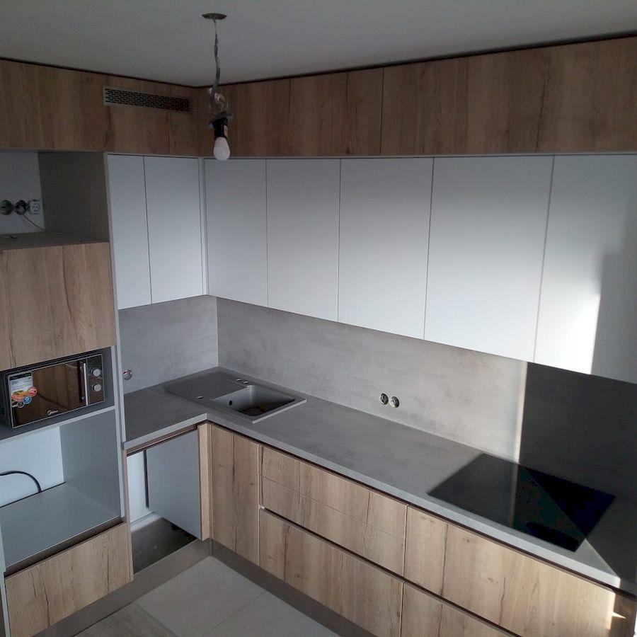 Белый кухонный гарнитур-Кухня из ЛДСП «Модель 651»-фото1