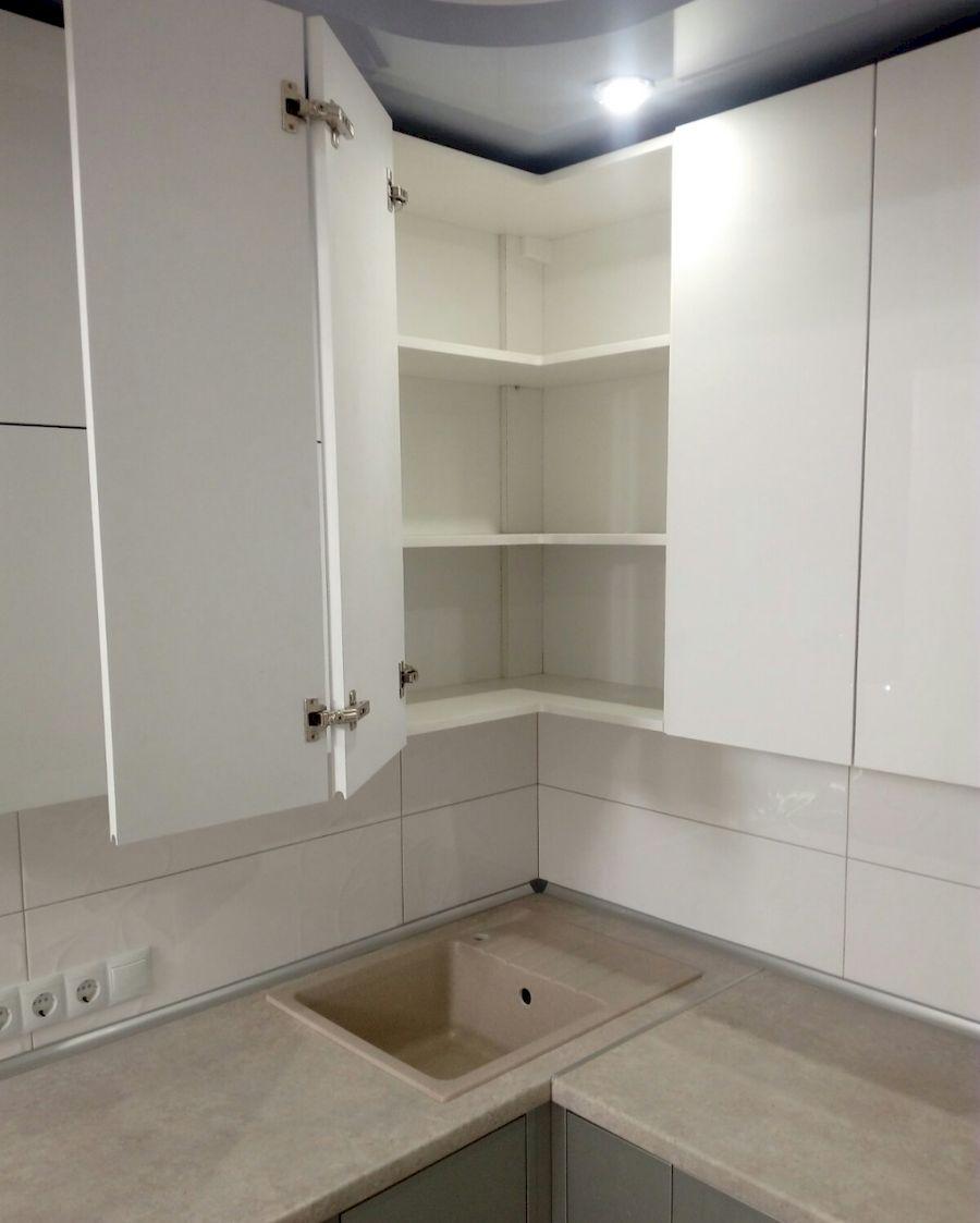 Белый кухонный гарнитур-Кухня МДФ в ПВХ «Модель 657»-фото5