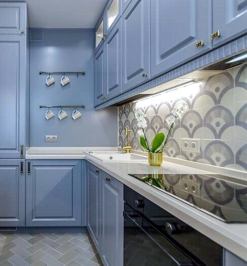 -Кухня МДФ в эмали «Модель 420»-фото17
