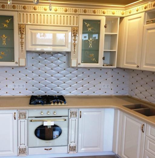 Белый кухонный гарнитур-Кухня МДФ в ПВХ «Модель 11»-фото6